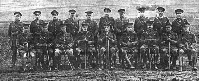 Photograph of officers from the East Lancashire Regiment