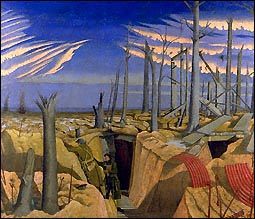 Oppy Wood, 1917 by Paul Nash