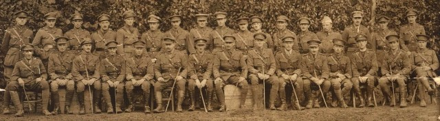 Photograph of officers from the Accrington Pals